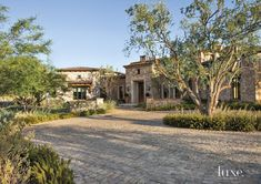 Mediterranean Farmhouse Style estate in Scottsdale, Arizona. i like the driveway