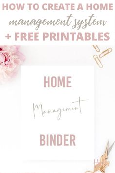 When you create a powerful home management system you'll be able to get more done and become a lot more organized. Let me walk you through how to create a home management system by downloading a free home management binder pdf to help.
