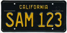 California's taking orders for these retro looking plates.