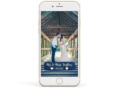 Snapchat Wedding Filter - Navy Blue Glitter Banner.png