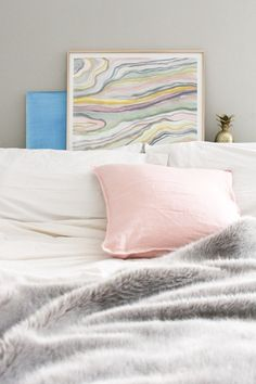 The colors of this copycat DIY are soft + subtle, perfect for spring home decor.