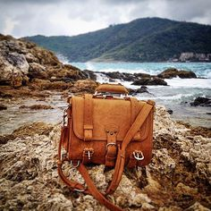 At Rawai Beach with a bit of rain. | Saddleback Leather Co. | Classic Briefcase | 100 Year Warranty | $568 - $664