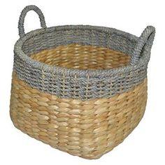 Exceptionnel Round Seagrass Wicker Storage Basket With Gray   Threshold™
