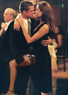 "Brad Pitt and Angelina Jolie in ""Mr & Mrs Smith"""