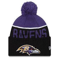 dd070d62b Men s Baltimore Ravens New Era 2015 On-Field Sport Knit Hat with Pom