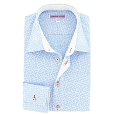 http://www.cotondoux.com/16784-thickbox/chemise-homme-coupe-ajustee-jacquard-bleu-motif-pois.jpg