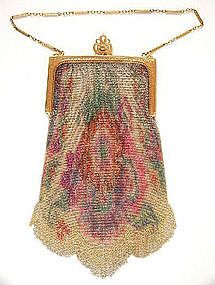 Whiting & Davis Dresden Mesh Purse, 1920