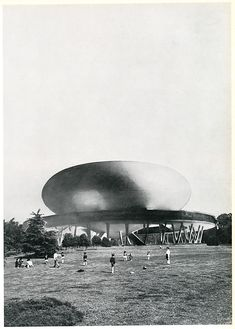 RNDRD is a frequently-updated partial index of architectural drawings and models scanned from design publications throughout the century. Maquette Architecture, Arch Architecture, Organic Architecture, Amazing Architecture, Amancio Williams, Draw Diagram, Mid Century Exterior, Futuristic Design, Science And Nature