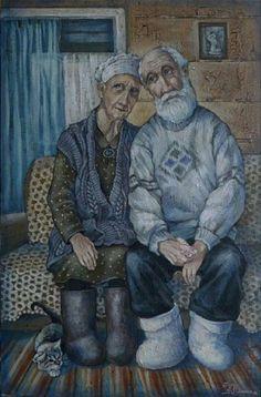 Бабушка и дедушка. Автор: Кира Панина.