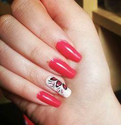 #nail #nails #nailart #pink #white #flowers #summer