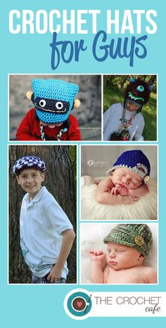 fc6a863851f Fun crochet hats for all your little guys www.thecrochetcafe.com Crochet  Hats For