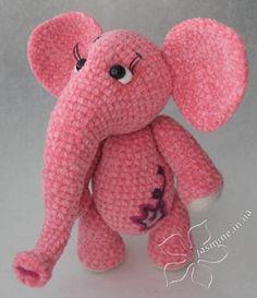 Jasmine Studio » Crochet toy elephant pattern in russian (Google Translate comes in handy)