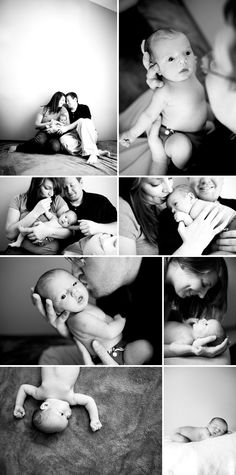Newborn photography with some parent shots