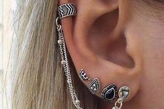 Drusilla Ear Cuff & 3 Piece Earring Set