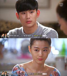 """Min Joon: """"¿Deberíamos ir a ese lugar?"""". Song Yi: """"¿Dónde?"""". Min Joon: """"La Torre Namsan. Dijiste que querías ir"""". Song Yi sonriendo: """"¿Deberíamos? Me pondré muy bonita. Tú también debes ponerte muy atractivo"""". Min Joon: """"Como si tuviera que tratar"""" - My Love From Another Star, Episodio 18"""