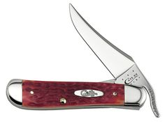 W.R. Case Dark Red Bone CV Knives