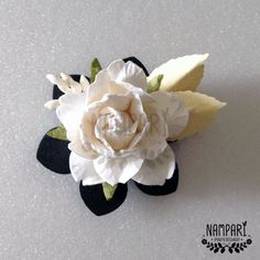 4 White Rose Magnets  Fridge Magnets  Cute by NamPariPaperShop