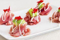 DELUXE Thunfisch-Carpaccio #tuna #carpaccio #yummy #appetizer #avocado #raw #fotd