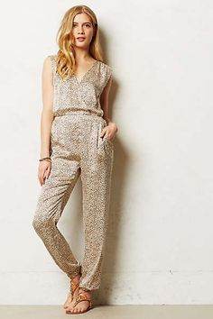 Anthropologie - Leopard Silk Romper...not everyone could pull it off, but it's oh so cool.
