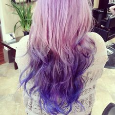 lavender purple blue ombre hair