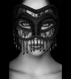 woman in a mask