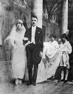 Their Serene Highnesses Prince Pierre and Princess Charlotte of Monaco, Duke and Duchess of Valentinois. Married: March 19, 1920
