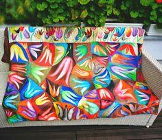 handmade painted silk blanket  210x150cm