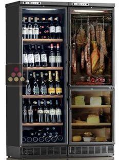 Combiné d'une cave à vin mono-température, d'une cave à fromages et d'une cave à charcuteries CALICE AFFINAGE ACI-CAL746E