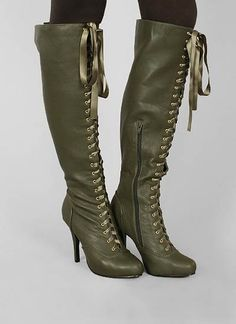 lace-up ribbon boot $35.95