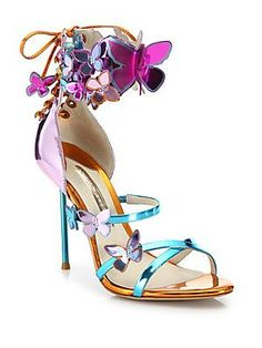 more like art than shoes i'd wear...Sophia Webster Harmony Metallic Leather Butterfly Sandals
