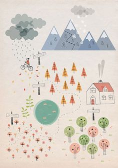 seasons, a print by stefania manzi from her etsy shop. so lovely.