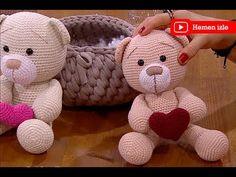Oyuncak örgü ayı yapımı - YouTube Crochet Coat, Crochet Dolls, Doll Patterns, Crochet Patterns, Sharon Ojala, Hobby World, Amigurumi Tutorial, Lana, Teddy Bear