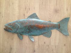 Fish Trout Metal Wall  Sculpture Lodge Cottage Lake Cabin Art by SallenbachFishArt on Etsy