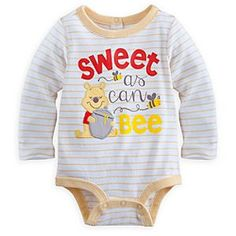 Winnie the Pooh Long Sleeve Disney Cuddly Bodysuit for Baby | Disney StoreWinnie the Pooh Long Sleeve Disney Cuddly Bodysuit for Baby - Baby will look ''sweet as can bee'' in our long sleeve Disney Cuddly Bodysuit made from soft cotton with Grow-An-Inch-Snaps and embroidered Pooh appliqu�.