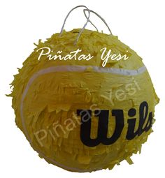 Piñata artesanal hecha a mano de Pelota de Tenis o Padel.
