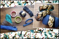 {DIY} Fabric covered bangles. (The perfect thing to do with the ones I have left over from my Indian bangle phase!)