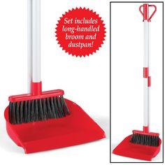 Long Handled Broom & Dustpan Set