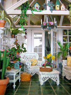 #miniature dollhouse plants, conservatory & garden