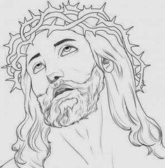 rosto de jesus desenho - Pesquisa do Google