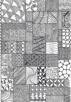 Minták doodles zentangles, tangle doodle, zentangle drawings, tangle art, d Doodles Zentangles, Tangle Doodle, Zentangle Drawings, Zen Doodle, Doodle Drawings, Doodle Art, How To Zentangle, Mandala Drawing, Mandala Art
