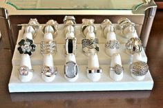 Rings for all tastes; large and small, bling or mellow we have rings for all occations.