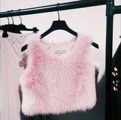 Fur Crop Top