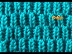 Brioche Stitch Scarf en 2 agujas o palitos Baby Knitting Patterns, Knitting Stitches, Knitting Needles, Crochet Patterns, Knitting Help, Knitting Videos, Crochet Videos, Easy Knitting, Crochet Crafts