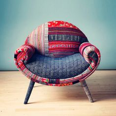 Smiley Patchwork Armchair I by Name Design Studio