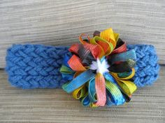 Head Band with Ribbon Flower both made on a loom