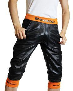 "bockleder:  ""Bockle® Loosely Leder Short  "" Leather Shorts, Leather Men, New Look, Parachute Pants, Trousers, Handsome, Sexy, Swimwear, Lederhosen"