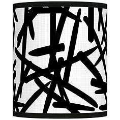Sketchy giclee lamp shade 135x135x10 spider accessorize me sketchy giclee shade 10x10x12 spider mozeypictures Gallery