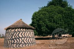 Traditional Ghanaian Mud Architecture, Ghana, Africa