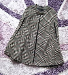 ♥ ASO RARE ZARA TARTAN CHECKED PLAID TWEED CAPE PONCHO WOOL ONE SIZE M-MEDIUM ♥  in Clothes, Shoes & Accessories, Women's Clothing, Coats & Jackets | eBay