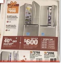 Home Depot Black Friday Ad Scan, Deals and Sales 2019 The Home Depot 2019 Black Friday ad is here! Black Friday News, Black Friday 2019, Home Depot Coupons, Bottom Freezer Refrigerator, Stainless Steel Counters, Ad Home, Votive Candle Holders, Printable Coupons, Print Ads